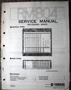 Yamaha Original Service Manual for the Vintage RM804 Mixer
