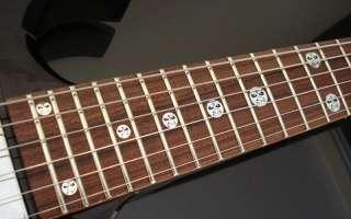 IRON MAIDEN EDDIE HEAD Vinyl Guitar Decal Inlay Set
