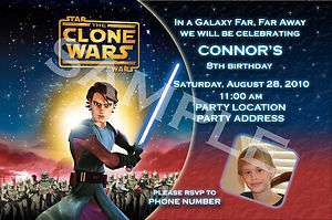 Star Wars Clone Wars Personalized Birthday Invitations & Party Favors