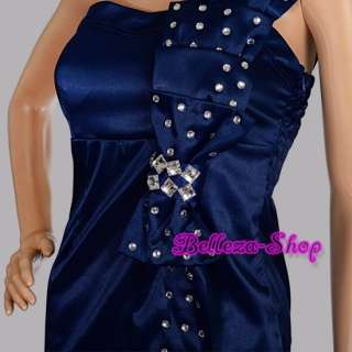 Blue Homecoming Party Cocktail Bridesmaid Dress XXS S
