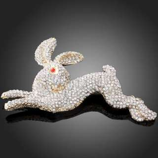 ARINNA Swarovski Crystals rabbit bunny cute Brooch Pin