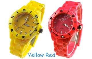 Men Women Lady Wristwatch Summer Plastic Wrist Watch