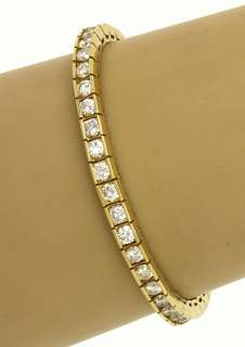 AMAZING 14K GOLD & 8 CT DIAMONDS LADIES TENNIS BRACELET