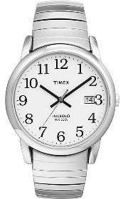 Timex Mens Classics Easy Reader White Dial Watch T2N089 753048327409