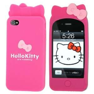 Hello Kitty Silicon Case Cover for Apple Iphone 4 4gs hot