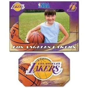 NBA Los Angeles Lakers Magnet   Die Cut Horizontal Sports
