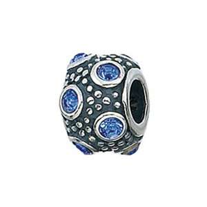 Silver September Crystal Ball Bead / Charm Finejewelers Jewelry