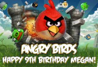 Angry Birds Edible Frosting sheet Image/Cake Topper