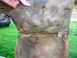 WW1 US Calvary Leather Saddle Bags Antique Military