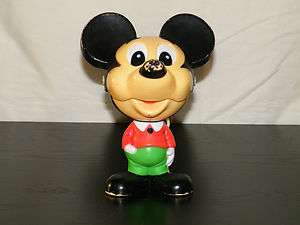 VINTAGE TALKING MICKEY MOUSE PULL STRING TOY 1970S