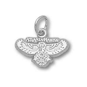 Atlanta Hawks Sterling Silver Logo 3/8 Pendant Sports