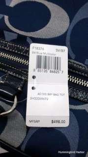 NWT Coach 18376 Addison Signature Baby Diaper Bag Tote Purse Navy Blue
