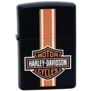 Harley Davidson Orange Stripe Zippo Lighter Patio, Lawn