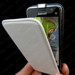 Genuine Leather Case Cover Samsung Galaxy S I9000 Black