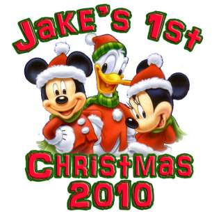 PERSONALIZED MICKEY MOUSE CHRISTMAS T Shirt All Sizes
