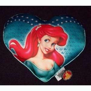 Disney World Princess Ariel Mermaid Heart Toss Pillow