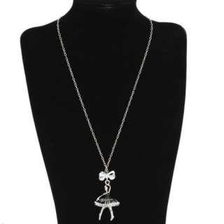 New Elegant Lady Women Alloy Ballet Dancing Girl Pendant Chain
