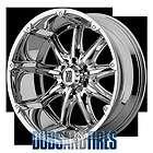 New 22 Inch KMC XD Series BADLANDS Wheels CHROME Rims 8X170 ET18