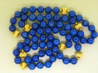 BEAD GOLD FILLED HAND CRAFTED VINTAGE NECKLACE   98.1 GRAMS