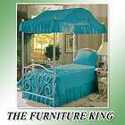 KIDS PRINCESS GIRLS TURQUOISE BLUE AQUA FULL SIZE CANOPY BED COVER TOP