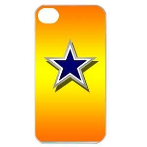 NEW Dallas Cowboys Star Logo iPhone 4 or 4S Hard Plastic Case Cover