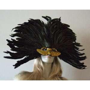 Vegas Girl Gold Venetian Mask Mardi Masquerade Halloween