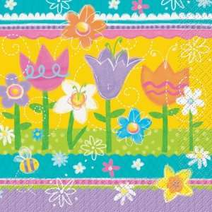 Lets Party By Unique Easter Spring Eggs Lunch Napkins