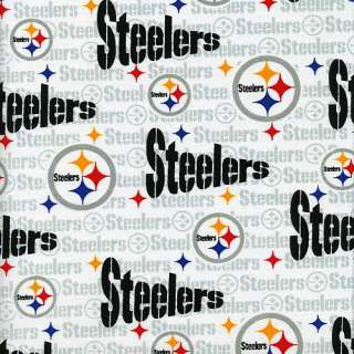 Pittsburgh Steelers Fabric NFL Pittsburgh Steelers Cotton White Fabric