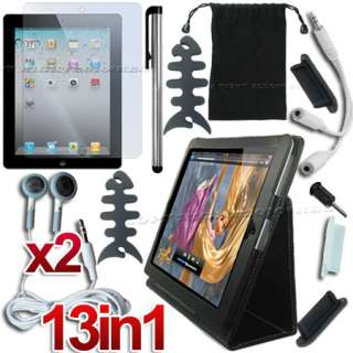 13 ACCESSORY BLACK LEATHER HARD CASE COVER+LCD SCREEN PROTECTOR FOR