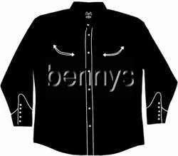 NEW Las Vegas Casino Western Dress Shirt, Bennys, XXL