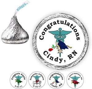 108 Graduation Doctor Nurse Medical Candy Kiss Labels Party Favors