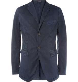 Jil Sander Garment Dyed Cotton Blend Slim Fit Blazer  MR PORTER