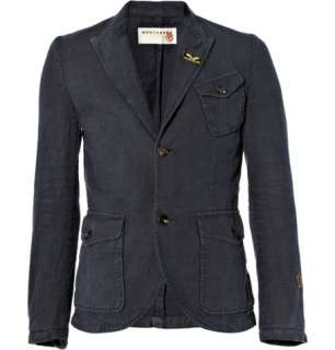 Clothing  Blazers  Single breasted  Cotton Blend