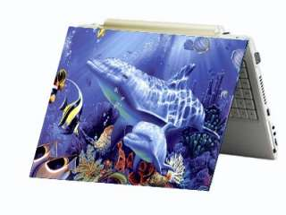 Dolphins Ocean Laptop Notebook Sticker Skin Decal Cover