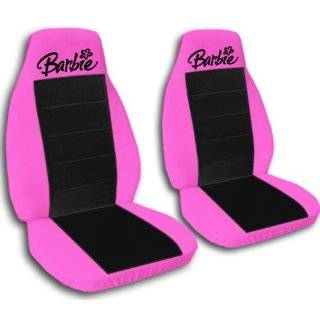 2 black Barbie car seat covers for a 2000 Pontiac