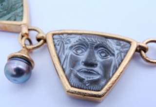 Designer Elizabeth Locke Ladies Solid 18K Yellow Gold Necklace