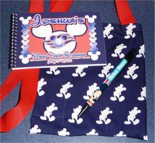 DISNEY CRUISE MICKEY MOUSE Autograph Book/Bag/Pen NEW