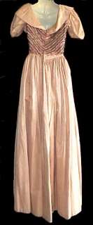 BEADED WESTERN FRONTIER CIVIL WAR 1880S PERIOD GOWN