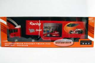 New 143 Sweden Scania F1 Truck Diecast Model Car With Box Red B436