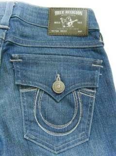 NWT TRUE RELIGION Womens BECKY Titan Stitch Boot Jeans