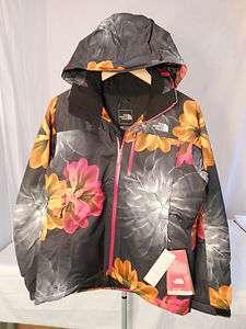 FACE WOMENS SNOW COUGAR PRINT JACKET TNF BLACK FLOWER BURST