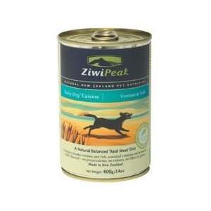ZiwiPeak Venison & Fish Dog Food 12 13 oz cans Pet
