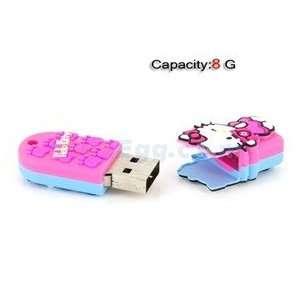 8GB Kitty USB Flash Drives U Disk (Pink & Blue