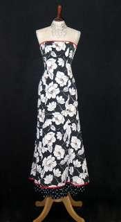 McClintock Tropical Black White Mermaid Dress Gown Size 10