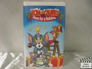 Tom and Jerry: Paws for a Holiday VHS Clamshell NEW 012569577732