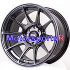 16 16x8.25 XXR 527 Chromium Black Concave Wheels Rims 89 90 94 Nissan