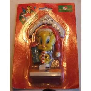 1996 Looney Tunes Tweety Bird Resin Christmas Ornament