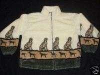 dalmatian dog print ladies fleece jacket