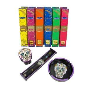 Day of the Dead Sugar Skull Incense Gift Set