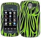Pantech Crux CDM8999 GREEN BLACK ZEBRA Faceplate Protector Phone Case